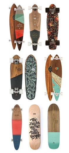 Graphic skate board decks