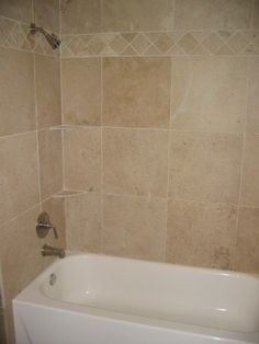bathtub shower combo enclosure tile ideas tub with travertine surround