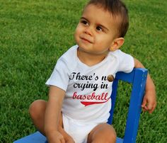 No Crying Onesie - Americana - Shops Uncovet