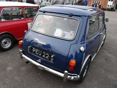 PEU 22 Radford Mini Cooper S from rear Note: Twin tanks, bulges in roof panel to cover twin hinges at top of hatch