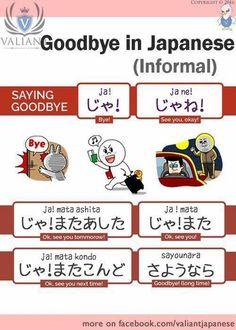 Goodbye in Japanese