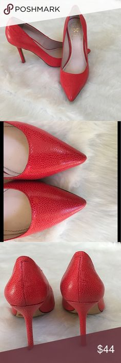 🆕Red Vince Camuto Pointed Heels Excellent used condition with normal very  light wear | Please view photos regarding the condition and ask any questions you may have prior to purchase | Vince Camuto Shoes Heels