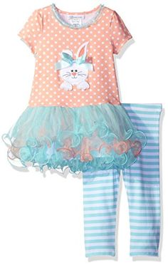 2693ebea0d7 Bonnie Jean Toddler Girls Short Sleeve Appliqued Knit Tutu Playwear Set  Peach 2T -- Read more at the image link.Note It is affiliate link to Amazon.