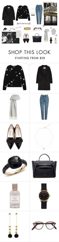"""""""love in paris"""" by rasberrypink ❤ liked on Polyvore featuring Monday, Chinti and Parker, MaxMara, Agnona, Topshop, Trouvaille, Jimmy Choo, Liz Law, Pomellato and CÉLINE"""