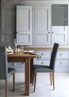 Bespoke kitchen from Martin Moore, featuring hand painted cabinetry martinmoore.com The English Home September 2014