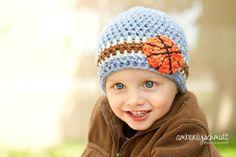 Crochet Beanie Hat Basketball Beanie by LittleMommaBoutique, $22.50