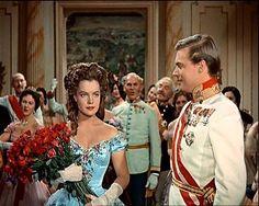 "Emperor Franz Joseph & Empress Elizabeth ""Sissi"" of Austria Romy Schneider, Magda Schneider, Old Hollywood Glamour, Classic Hollywood, I Movie, Movie Stars, Impératrice Sissi, Empress Sissi, Alain Delon"