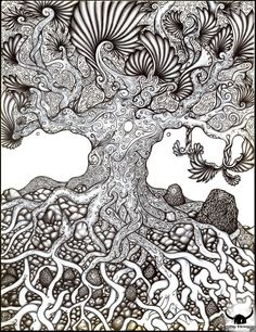 Zentangle arbre