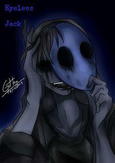 l'm Eyeless Jack Jeff The Killer, Eyeless Jack, Yandere, Jack Creepypasta, Super Anime, Creepy Pasta Family, Laughing Jack, Image Manga, Creepy Art