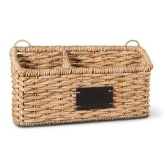 Smith & Hawken™ Woven Wall Organizer Decorative Basket with Small Chalkboard | $14.99 | Target