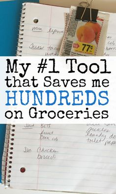Need to lower your grocery bill? Meal planning is the #1 way I save money on groceries. And I use one simple tool that makes meal planning very easy. I've tried countless other options, but I always go back to basics, and this one simple tool has helped me save hundreds of dollars over the years.