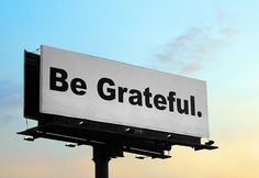 more than sayings: Be grateful