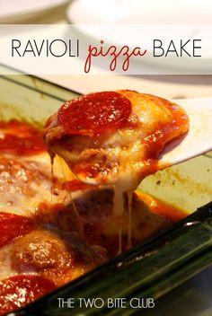 The Two Bite Club: Ravioli Pizza Bake
