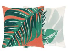 Flores Set of 2 Printed Cushions 45 x Multi Green Cushions, Printed Cushions, Velvet Cushions, Outdoor Cushions, Cushions On Sofa, Throw Pillows, Garden Furniture Design, Outdoor Garden Furniture, Cushions For Sale