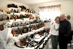 Dick and Kay Erb have a Christmas village in their Mead home. Christmas Tree Village Display, Lemax Christmas Village, Lemax Village, Christmas Town, Christmas Villages, Family Christmas, Vintage Christmas, Christmas Holidays, Christmas Decorations