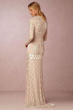 @Bellethemagazine wedding dresses   BHLDN Bride   Floor Blush Sheath V-Neck $ ($1,000 or less)