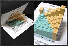 Science Paper Model - 3D Periodic Table Free Papercraft Download