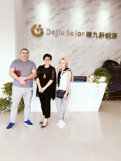 Ukrainian customers visit us and place us order with a grid-tied solar power system. Solar Power System, Grid, News, Solar Energy System
