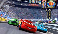 Cool still.  Lightning McQueen, the King, and Chick Hicks