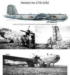 "1942 - Heinkel He 177 ""Greif"" Ww2 Aircraft, Fighter Aircraft, Military Aircraft, Luftwaffe, Fighter Pilot, Fighter Jets, Aircraft Painting, Ww2 Planes, Aviation Art"