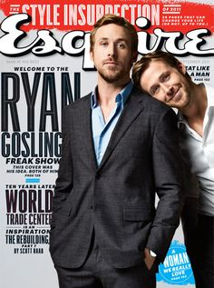 Magazine / Ryan Gosling for Esquire September 2011 by Perou. Ryan Gosling, Guys Be Like, My Love, Ryan Thomas, Tumblr, People Magazine, Bradley Cooper, Lily Collins, Hey Girl