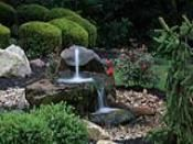 Handcarved Natural Stone Rock Bubbler Fountain