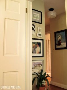 Art Walls:  Hanging Art Around a Thermostat