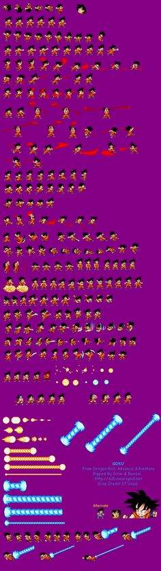 Sprite Database : Goku