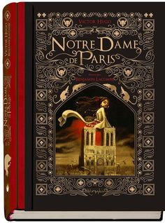 Notre-Dame de Paris -- by Victor Hugo & illustrated by Benjamin Lacombe Victor Hugo, Book Cover Design, Book Design, Les Miserables Book, Inspirational Movies, Beautiful Book Covers, Book Writer, Fantasy Paintings, World Of Books