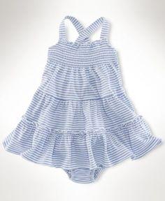 Ralph Lauren Baby Dress, Baby Girls Sleeveless Smocked Dress - Kids Baby Girl (0-24 months) - Macy's