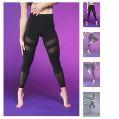Popflex Active Your Highness Leggings Night Size 6