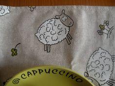 Tovagliette colazione - coppia tovaglietta con pecorelle - un prodotto unico di bandullera su DaWanda