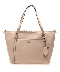 Another great find on #zulily! Sand Peyton Signature Leather Tote by Coach #zulilyfinds