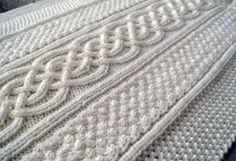 Celtic blanket knitting pattern by Naonu on Etsy, $4.00