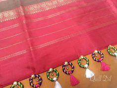 Saree Tassels Designs, Saree Kuchu Designs, Blouse Designs, Embroidery Dress, Hand Embroidery, Silk Thread Bangles Design, Stitching Dresses, Dress Neck Designs, K2
