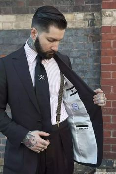 I drink to make other people more interesting. ― Ernest Hemingway  Model Jared Acquaro @apmmillionsA Poor Man's Millions,photo by Kirsty Umback @kumback Tie by @hackettlondon Suit by #SuitYourStyle  #ThirteenThieves #menswear #HenryBucks #Melbourne #PaoloAlbizzati #Grenson #sartorial #dapper #gentlemen #gq #beards #esquire #fashionable #future #new #old #tattoos #BaileyNelson #BlackTie #texture #graffiti#Streetphotography #13Thieves