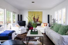 I love this furniture set up (with the exception of TV placement).     traditional living room by Alex Amend Photography