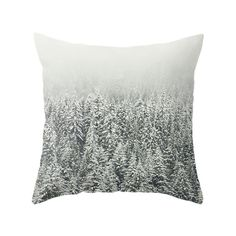 Snow Forest Pillow, Nature Photo, Landscape Pillow Cover, Cushion Cover, Throw Pillow, Winter, Snow, White, Christmas, Forest, Trees, Nature