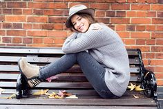 Hello There: Sorel — The London Chatter wearing Genevieve Sweeney Oban Jumper