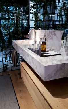 Dògma by Aqua di Ideagroup in gres effetto marmo - Cersaie 2017