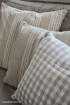 Pretty pillows.  FARMHOUSE 5540: Hand Made Presents Part Two