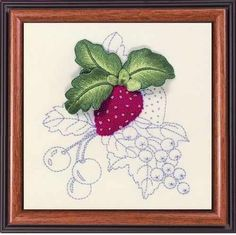 Image detail for -Stumpwork Embroidery Kit - Strawberry Summer Fruits