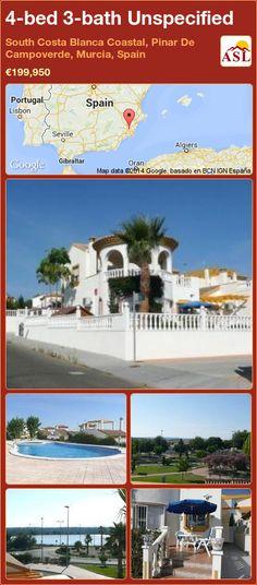 4-bed 3-bath Unspecified in South Costa Blanca   Coastal, Pinar De Campoverde, Murcia, Spain ►€199,950 #PropertyForSaleInSpain