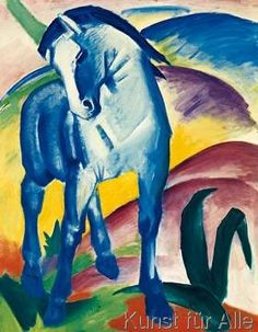 Franz Marc - (February 8, 1880 – March 4, 1916) was a German painter and printmaker, one of the key figures of the German Expressionist movement. -Blaues Pferd I-