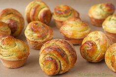 The Café Sucré Farine: Pesto-Swirled Brioche Dinner Rolls - the Five Minute Way!