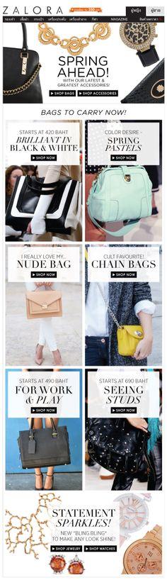 #bags acessories email design    Zalora Thailand