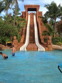 Who wants to race? Challenge your friends to a high-speed splashdown at They Mayan Temple water slide! Atlantis Resort, Paradise Island in the Bahamas: http://www.atlantis.com/thingstodo/waterpark.aspx