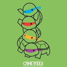 Infant Mutant Ninja Turtles by aaronthadathil Shirt on sale until 28 April on http://othertees.com #tmnt