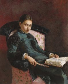 Ilya Repin (1844-1930), Portrait of the artist's wife, Vera Repin, 1878.