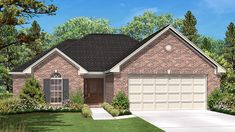 Home Plan HOMEPW77616 - 1600 Square Foot, 3 Bedroom 2 Bathroom Ranch Home with 2 Garage Bays | Homeplans.com